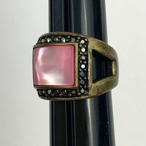 Lia Sophia Mulberry Pink Antiqued Ring Size 8